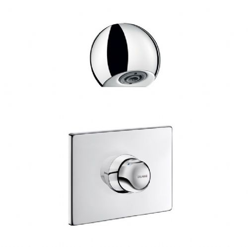 Delabie 790219 TEMPOMIX Recessed Push Time-Flow Vandal-Resistant Shower Kit